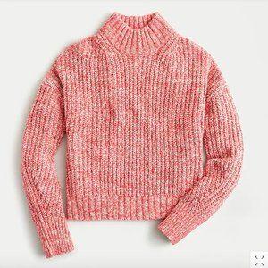 J.Crew Marled donegal mockneck sweater
